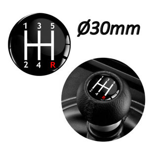 GEAR KNOB SHIFT PATTERN LEVER STICKER 3D EMBLEM STICK BADGE 5 SPEED Ø3cm CAR S57