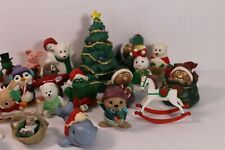 Vintage Lot (23) 90s Hallmark Merry Miniatures Plastic Figurines Christmas