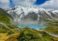Mount Sefton and Lake Mueller New Zealand Photo Poster A4 Print ONLY Wall Art