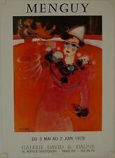 Affiche MENGUY 1979 Exposition Galerie Davis & Daune - Paris