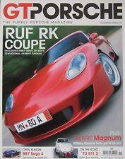GT Purely Porsche magazine 11/2006 featuring RUF RK, 997, TechArt