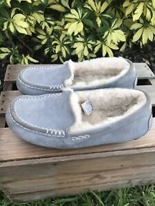 Ugg Ansley Slipper Loafers Womans Size 8 Powder Blue/Grey