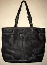 COACH Classic Black Leather Shoulder Bag Purse