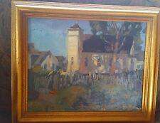 BRUCE WOLFE Listed Artist--Original Oil On Board ELK CHURCH