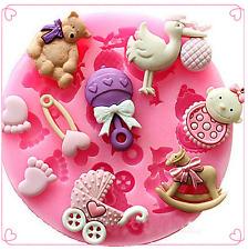 Baby Shower Orso Glassa in Silicone Stampo Cottura Torta al Cioccolato Topping SUGAR Craft