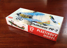 Rare - Plastikovy Model/Maquette - Polikarpov 1/72 Made in Czechoslovakia 1970's