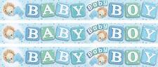 BABY BOY BLUE ALPHABET CUBES DESIGN BANNERS (EX)