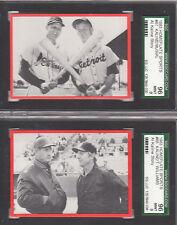 STAN MUSIAL, 1983 Homeplate #67, SGC MINT 9 w/Al Kaline-RARE 2 HOFers on 1 card