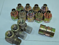 Lot of NEW Hydraulic Valves, Elbow Fittings & Coupling