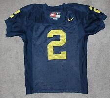 Nike #2 Charles Woodson Authentic Football Jersey MICHIGAN 44 L M Blue 90s vtg