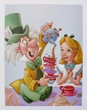 DISNEY MAD TEA PARTY Offset Lithograph Art ALICE IN WONDERLAND MAD HATTER