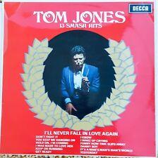 Tom Jones – 13 Smash Hits VINYL   LP Album Stereo UK 1967 DECCA