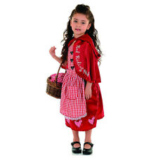 Girls Little Red Riding Hood Costume Kids Fairytale Fancy Dress