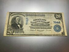 New listing Shelbyville, Indiana 1902 National Note. Charter 7946. High-Skewed Charter!
