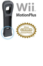 AUTHENTIC NEW NINTENDO Wii MOTION PLUS ADAPTER SENSOR & BLACK SILICONE CASE