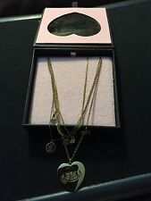 Juicy Couture Anniversary Necklace Hearts Bows More Pendants New In Box $128