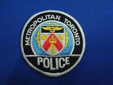 Vintage Metropolitan Toronto Police Iron On Patch