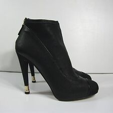 Chanel Black Lambskin Leather Boots with Gold Tip Heel Size 38,5 $1520