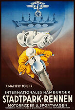 Motorcycle Car Hamburg Stadtpark NSKK Third Reich Race Bike Motor  Poster Print