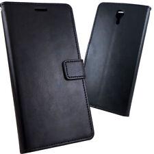 Custodia FLIP cover BOOKLET stand per Lenovo ZUK Z1 case eco pelle NERA