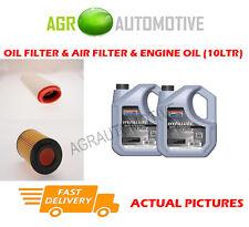 DIESEL OIL AIR FILTER + SS 10W40 FOR LAND ROVER FREELANDER 2.0 111 BHP 2000-06