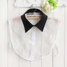 Women Peter Pan Detachable Lapel Shirt Fake False Collar Choker Necklace 27 Type