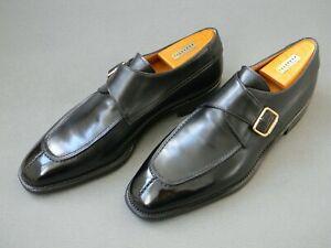 Carmina Black Split Toe Single Monk Mens Shoes 10UK 44EU 11US Rare