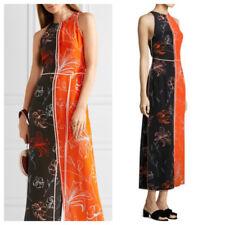 NWT $498 Diane von Furstenberg DVF Colorblock Silk Maxi Dress 4