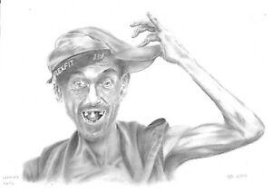 "original drawing A3 8MR art Graphite sketch modern male portrait ""Hallo"""