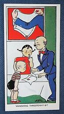 Magic Vanishing Coin Trick   Superb Original 1930's Vintage Card