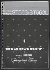 Marantz Model st563/st563l original Stereophonic sintonizador Service-manual top o124