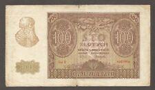 Poland 100 Zlotych 1940; VG+; P-97; M-97; S/B-909; Bank building; WW II issue
