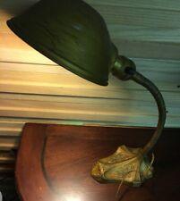 Antique 1921 Industrial Art Deco S. Robert Schwartz & Bros Goose Neck Lamp