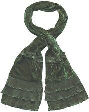 echarpe fantaisie femme velours vert kaki