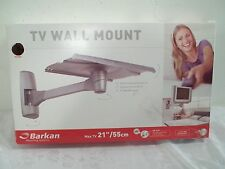 """Barkan TV Wall Mounting System Up To 21"""" And 70 Pounds New In Open Box Silver"""