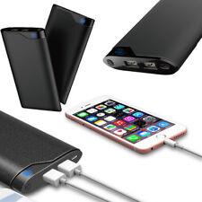 10000mAh Portable Dual USB Charger LED Digital Display Battery Power Bank Case