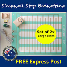 Bed Wetting Mattress Alarm LARGE -Twin Pack- Bedwetting Enuresis Child Urine Mat