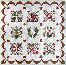 Baltimore Squared Applique BOM Come Quilt Quakertown Sue Garmen 10 Pattern Set