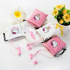 Hello Kitty Earphones with Pouch and Microphone