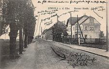Strehla a. d. Elbe, Riesaer Straße, Postkarte 1923