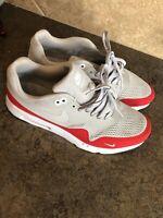 Nike Air Max 1 Grey/Red Mesh Sz 11