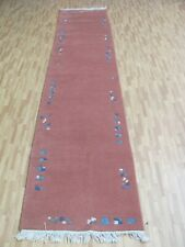 A SUPERB NEW HANDMADE TIBET ORIENTAL RUNNER (339 x 74 cm)