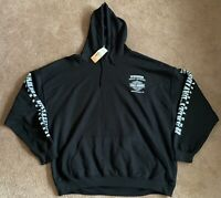 NWT Harley Davidson Pullover Hoodie Wisconsin Lighting Crest Eagle Skull Size 3X