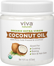 Viva Naturals Organic Extra-Virgin Coconut Oil Best For Cooking, Beauty and Hair