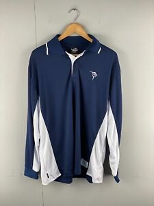 Jarvis Walker Men's Long Sleeve Collared Fishing T-Shirt Size L Blue White