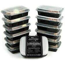 Heim Concept HC-FC12 Premium Meal Prep Food Black Containers - 12 Pieces