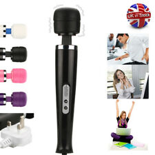 30 SPEED Massage Magic Wand Full Body Massager With Quiet Powerful Motor UK Plug