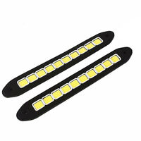 2X Waterproof 20W 12V Daytime Running WHITE LED Light DRL COB Strip Lamp Fog Car