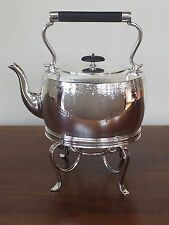 Silver Plate SPIRIT KETTLE Teapot William Padley & Son Sheffield England