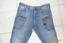 Mens jeans G Star Nattacc Straight AUTHENTIC MINT 34/34 Faded Blue